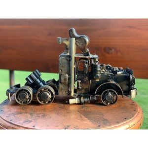 Truck sculpture- made from automotive parts